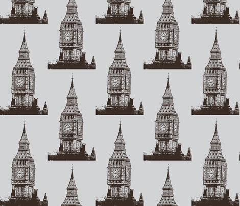 Big_Ben_postarized__warm_filter-ch-ed-ch fabric by katiemadeit on Spoonflower - custom fabric