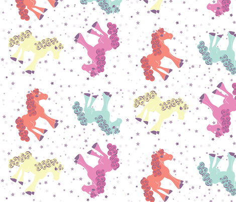 ahorseofadifferentcolor fabric by am2pmdesigns on Spoonflower - custom fabric