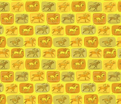 Muybridge Horses 4 fabric by vinpauld on Spoonflower - custom fabric