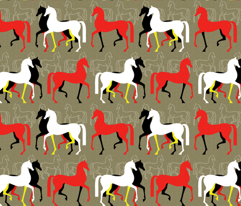 March of the Arabians fabric by celiaforrester on Spoonflower - custom fabric