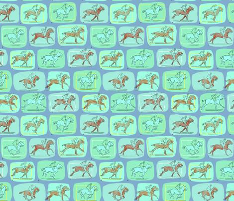 Muybridge Horses 5 fabric by vinpauld on Spoonflower - custom fabric