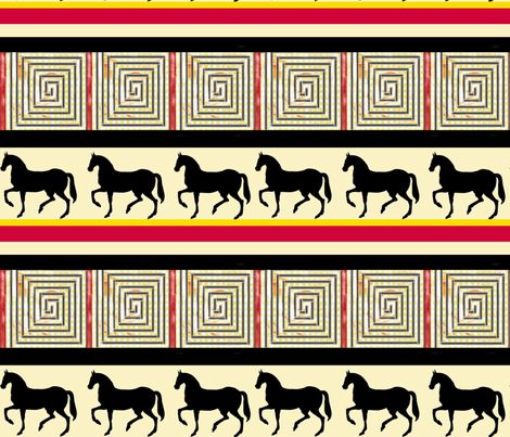 horses fabric by lbehrendtdesigns on Spoonflower - custom fabric