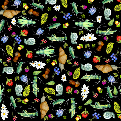 underbrush ditsy fabric by golders on Spoonflower - custom fabric
