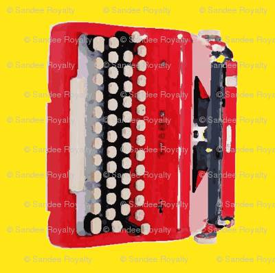 typewriter yellow background