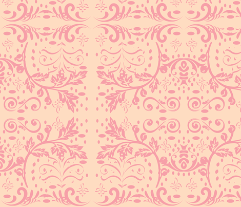 Chantilly in Sorbet fabric by drapestudio on Spoonflower - custom fabric