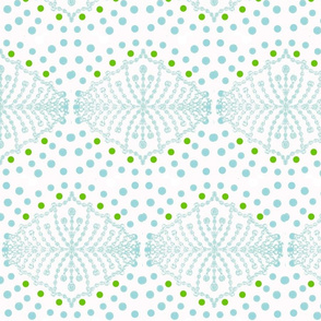 Polka Dot Dreams in Sea and Green