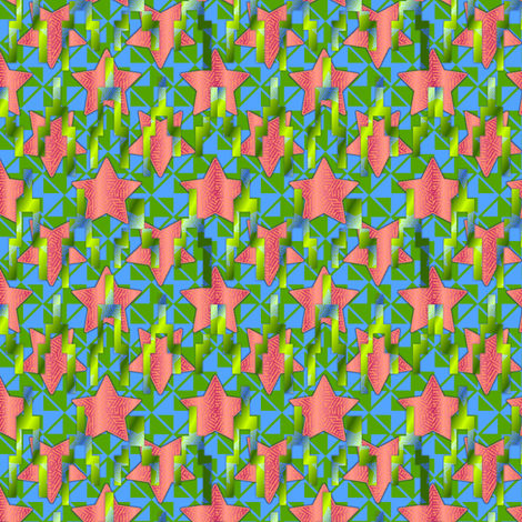 star contrast melon fields fabric by glimmericks on Spoonflower - custom fabric