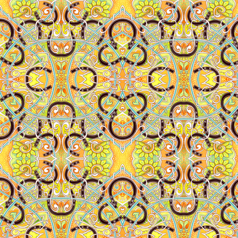 H is For Horseshoe fabric by edsel2084 on Spoonflower - custom fabric