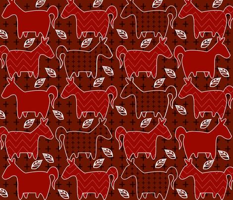 Funny_Horses fabric by yasminah_combary on Spoonflower - custom fabric