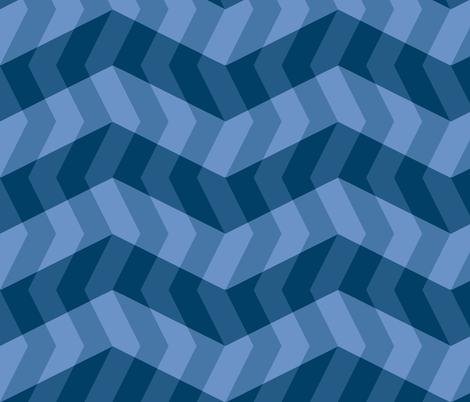 blue twilight on the lake fabric by weavingmajor on Spoonflower - custom fabric