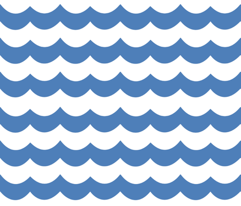 Wave Chevron  fabric by willowlanetextiles on Spoonflower - custom fabric
