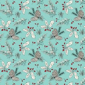 Winter Bits - Small - Ivory Turquoise
