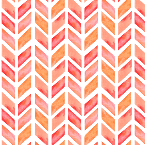 Watercolor Herringbone in Solid Pinks fabric by emilysanford on Spoonflower - custom fabric