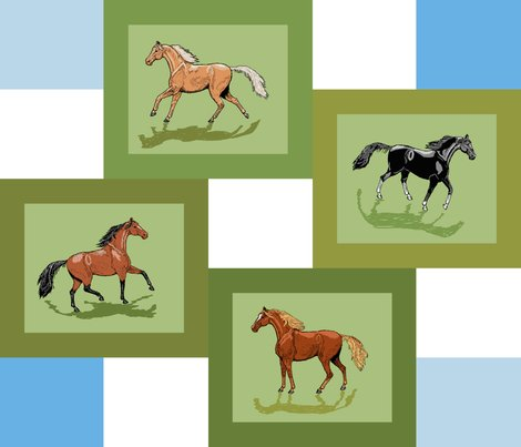R4_horse_patch_framed_blue_white_shadows_shop_preview