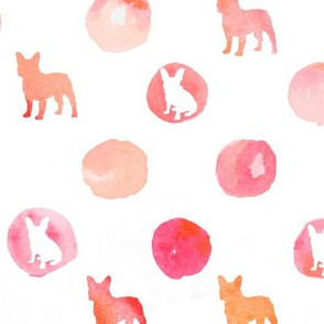 Polka Dot Frenchies in Pinks