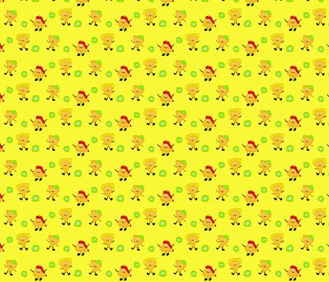 Kawaii Nacho fabric by silicon_cowgirl on Spoonflower - custom fabric