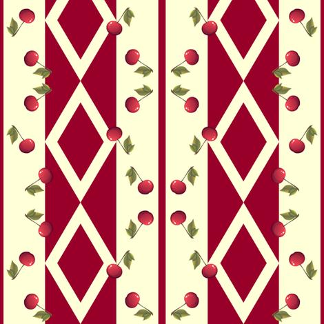 Vintage Cherries fabric by robin_rice on Spoonflower - custom fabric