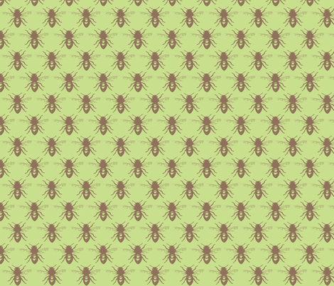 bee on green-ch-ed fabric by katiemadeit on Spoonflower - custom fabric