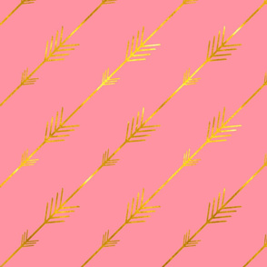 Gold Arrows in Pink