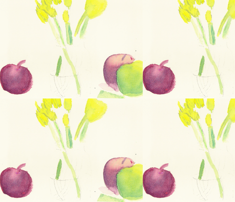 Fruits and Tulips-ed fabric by artist55 on Spoonflower - custom fabric