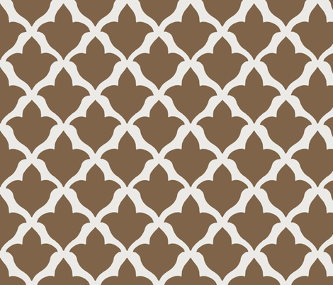 Fleur in Chocolate fabric by willowlanetextiles on Spoonflower - custom fabric