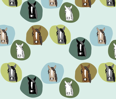 Horses 3 fabric by owlandchickadee on Spoonflower - custom fabric