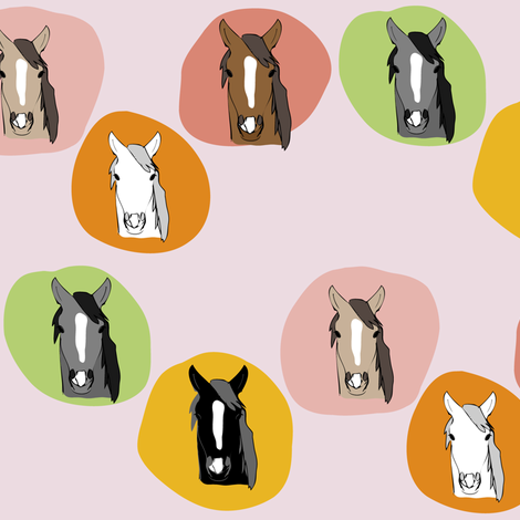 Horses 7 fabric by owlandchickadee on Spoonflower - custom fabric