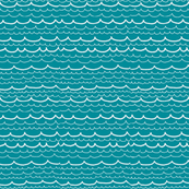 waves on teal