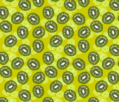Citrus kiwi fabric by weejock on Spoonflower - custom fabric