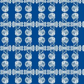 Teddy Bear Blues Cobalt Blue /White/Navy
