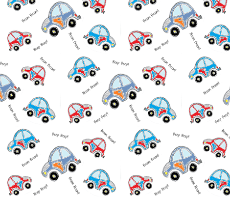 Rustic Cars fabric by carylpritchard on Spoonflower - custom fabric