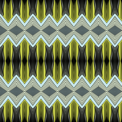 border on yellow fabric by susiprint on Spoonflower - custom fabric