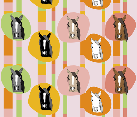 Horses10 fabric by owlandchickadee on Spoonflower - custom fabric