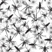 Crickets black on white