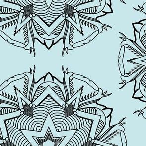 psychedelic grasshopper black blue