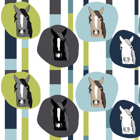 Horses fabric by owlandchickadee on Spoonflower - custom fabric