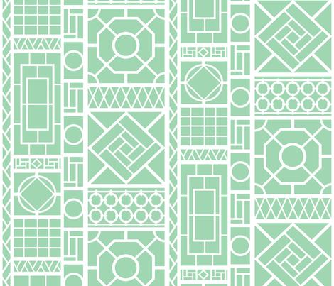 trellis on spa fabric by danikaherrick on Spoonflower - custom fabric