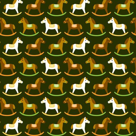 Rocking horses fabric by petitspixels on Spoonflower - custom fabric