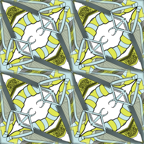 cricket monster abstract fabric by susiprint on Spoonflower - custom fabric