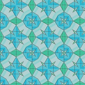 Blue Green Circular Tiles © Gingezel™ 2014