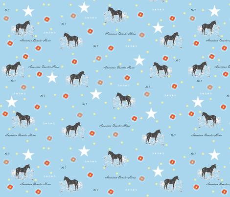 Aqua_Horse_Print fabric by vintagegypsy on Spoonflower - custom fabric