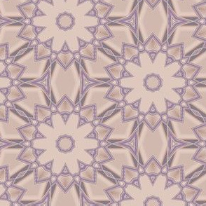 Purple Contemporary Flowers on Beige Large © Gingezel™ 2013