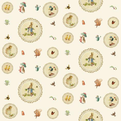 Peter Rabbit And Friends Fabric Littledesignshop Spoonflower