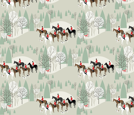 Run Fox Run!  fabric by robinpickens on Spoonflower - custom fabric