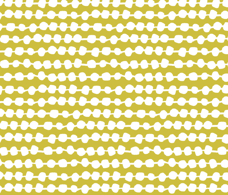 Dots in Rows - Mustard by Andrea Lauren fabric by andrea_lauren on Spoonflower - custom fabric