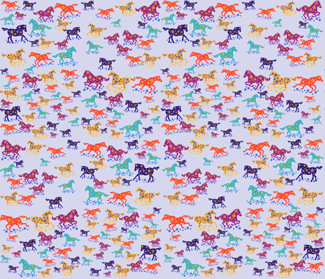Itsy_Ditsy_Horsies fabric by scifiwritir on Spoonflower - custom fabric