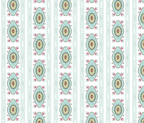 Imperial City in  Sky fabric by drapestudio on Spoonflower - custom fabric