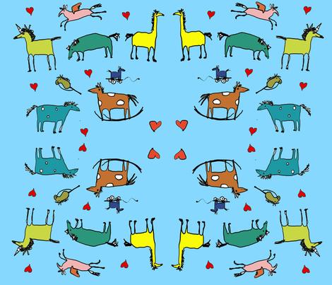 love_horsies fabric by superhelga on Spoonflower - custom fabric