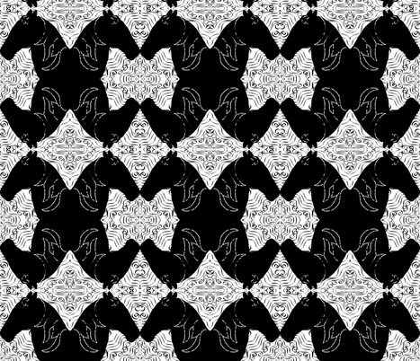 Black and White fabric by inkwolf on Spoonflower - custom fabric