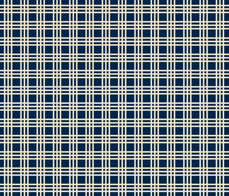 Mary Ann Kilrain_plaid navy fabric by lana_gordon_rast_ on Spoonflower - custom fabric